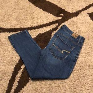 American Eagle High Rise Crop jeans